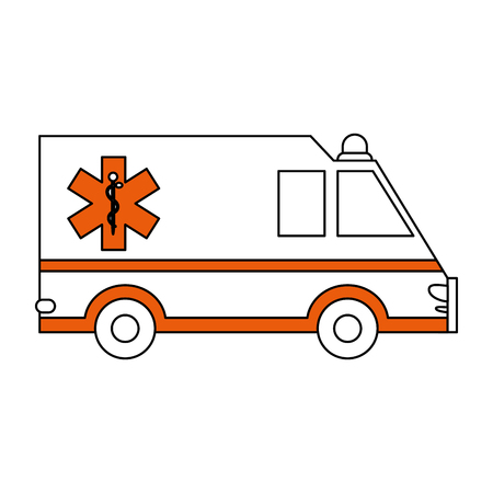 insured: ambulance healthcare icon image vector illustration design partially colored Illustration