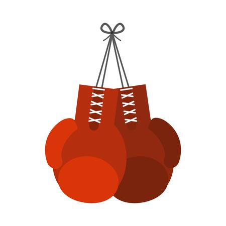 Boxing gloves icon image vector illustration design Illustration