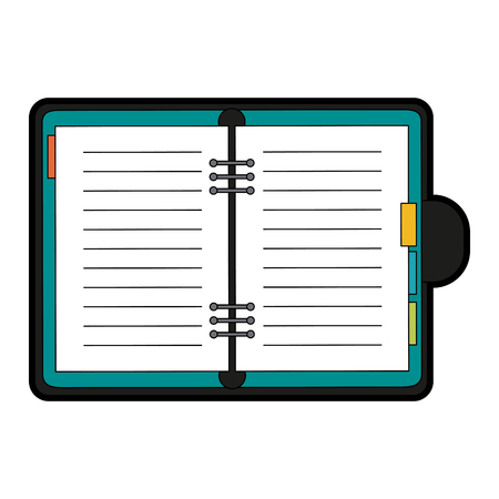 open notebook: Open notebook icon image vector illustration design