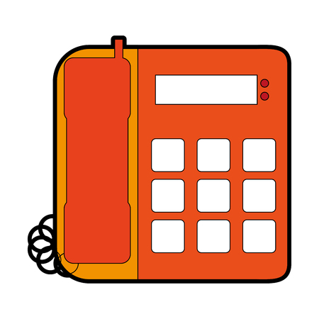 Landline phone icon image vector illustration design