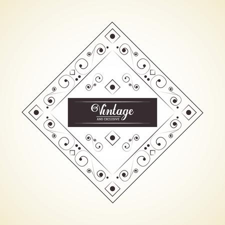 prestige: Vintage and exclusive decoration classic element background vector illustration