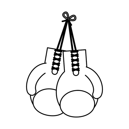 boxing gloves icon vector illustration