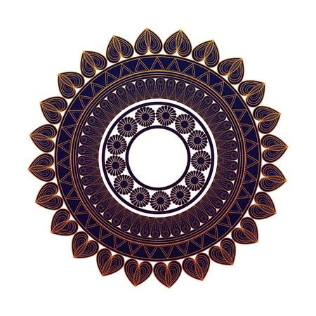 mandala round ornament pattern. vintage decorative elements vector illustration Illustration