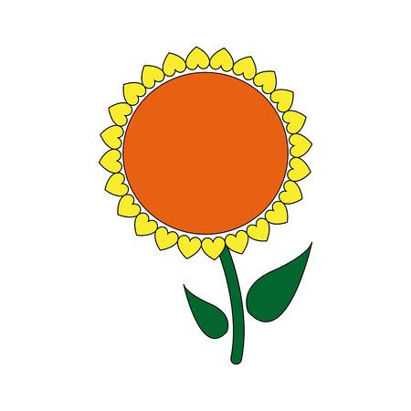 sunflower seeds: sunflower plant stem natural garden image vector illustration