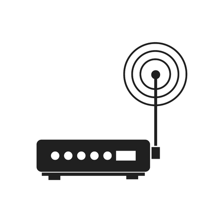 Wifi router modem, technology mobile system vector illustration