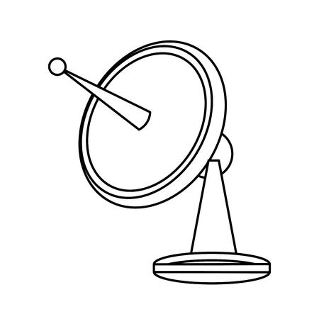 Satelitarne naczynia technologii komunikacji sieciowej ilustracji wektorowych Ilustracje wektorowe