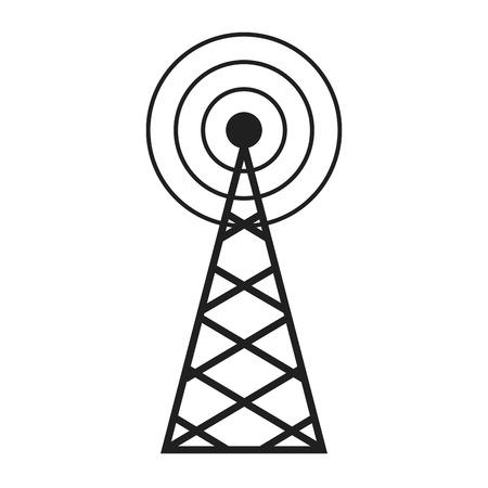 Radio, antenna sending signal icon. wireless technology. vector illustration. Illustration