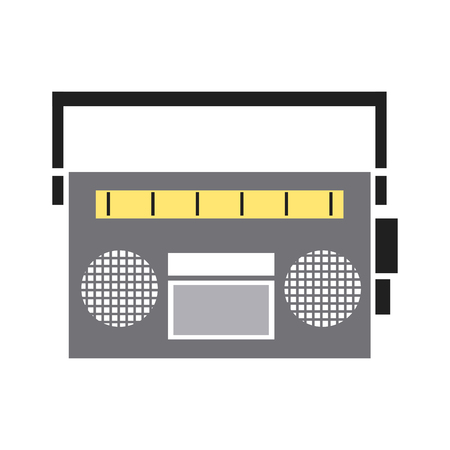 vintage stereo radio music audio vector illustration Illustration
