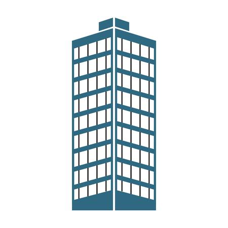 building structure architecture windows design vector illustration