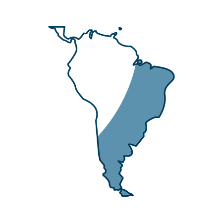 World Map South America Continent Country Image Vector Illustration