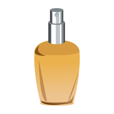 Bottle of woman perfume on light background. vector illustration