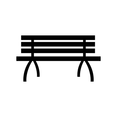 bench alone: Lonely bench furniture wooden image vector illustration