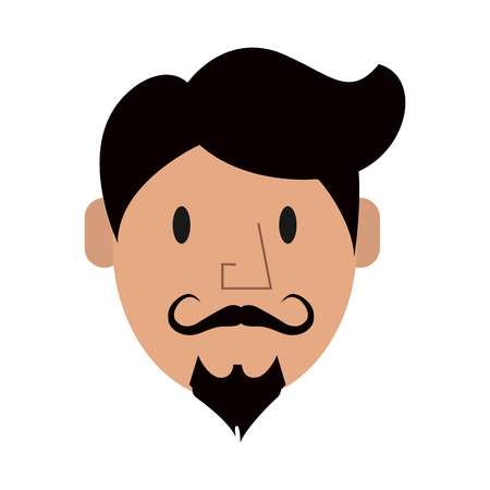 hipster man character icon image vector illustration design