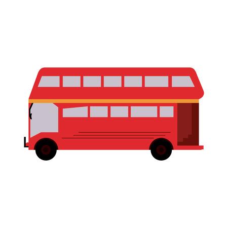 double decker bus london icon image vector illustration design
