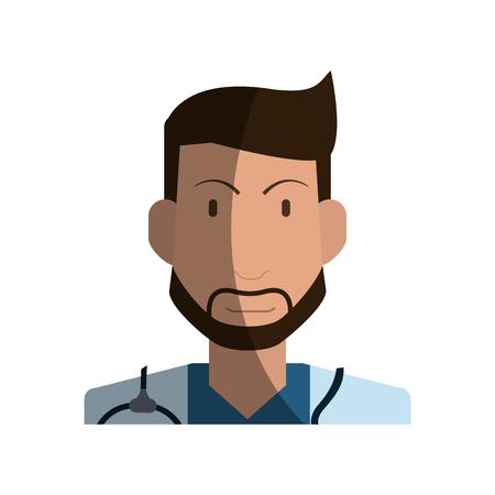male medical doctor icon image vector illustration design Illustration