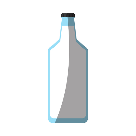 hydrate: milk glass bottle icon image vector illustration design