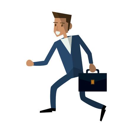 Running young businessman icon image vector illustration desig