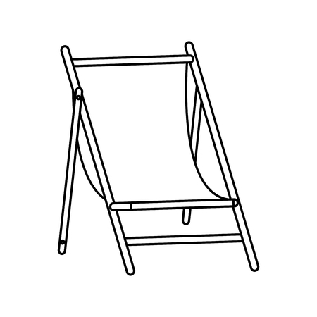 bendable: sun chair icon image vector illustration design  single black line Illustration