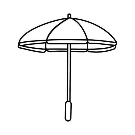 parasol umbrella icon image vector illustration design  single black line Illustration