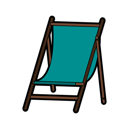 bendable: Sun chair icon image vector illustration design Illustration