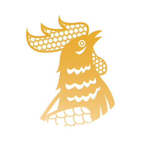 rooster for chinese new year celebration. character animal zodiac vector illustration