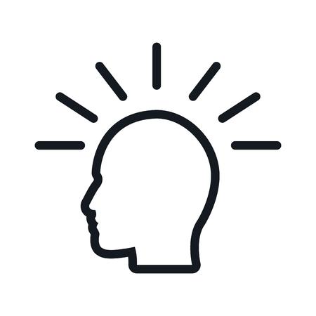 human head imagination thinking. flat vector illustration. Illustration