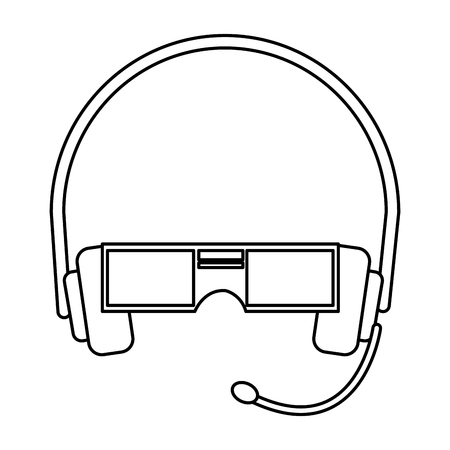 eyewear: VR Virtual reality glasses simple vector flat icon