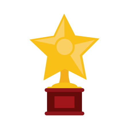 star shape trophy icon image vector illustration design