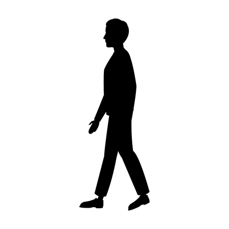 pictogram man walking people image vector illustration Illusztráció