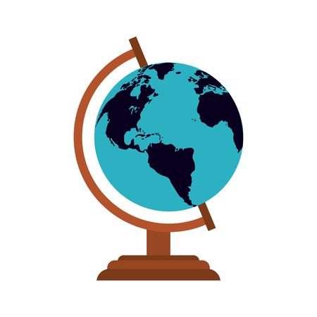 planet earth icon image vector illustration design Illustration