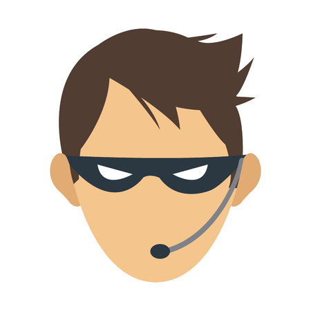 anonymity: male hacker icon image vector illustration design
