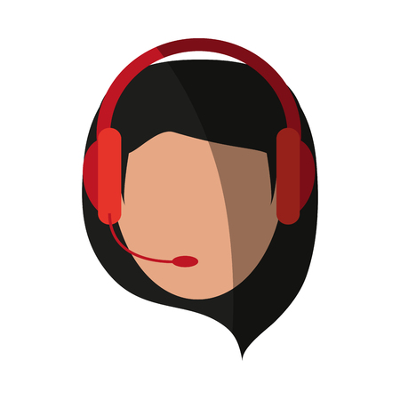 person with headset customer service or call center worker  icon image vector illustration design Illustration