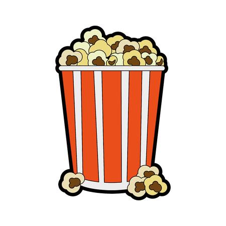 movie film: popcorn snack icon image vector illustration design Illustration