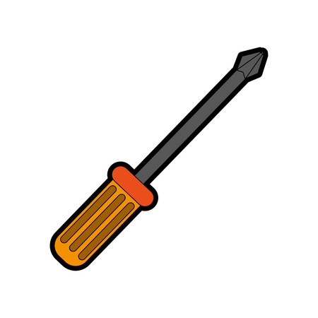 single screwdriver icon image vector illustration design
