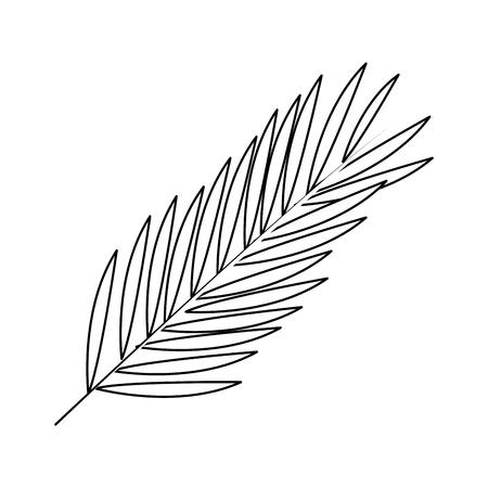 vegetate: leaf or leaves icon image vector illustration design  single black line Illustration