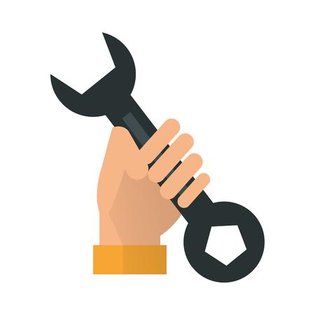 hand holding screwdriver icon image vector illustration design