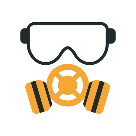 gas mask icon image vector illustration design Illustration