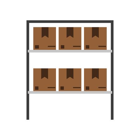 storage box: box in storage icon image vector illustration design