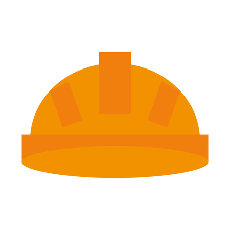 detection: helmet industrial security icon image vector illustration design
