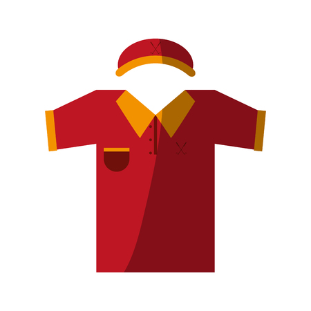 outfit golf related icon image vector illustration design Illustration