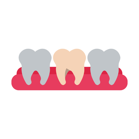 Molars dental care related icon image vector illustration design