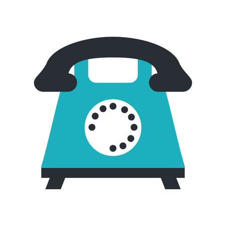 Rotary phone icon image vector illustration design