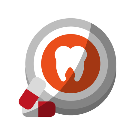 doctor appointment: Medication dental care related icon image vector illustration design