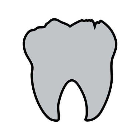 Tooth dental care related icon image vector illustration design
