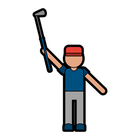 dimple: player golf related icon image vector illustration design