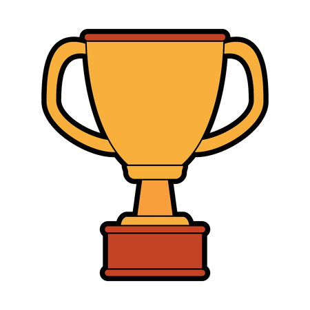 award winning: trophy cup icon image vector illustration design
