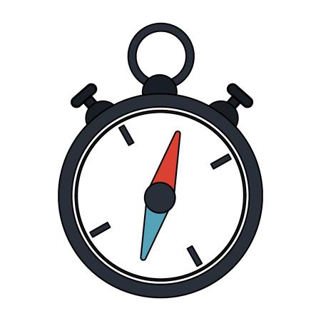 color image cartoon stopwatch icon vector illustration Illustration