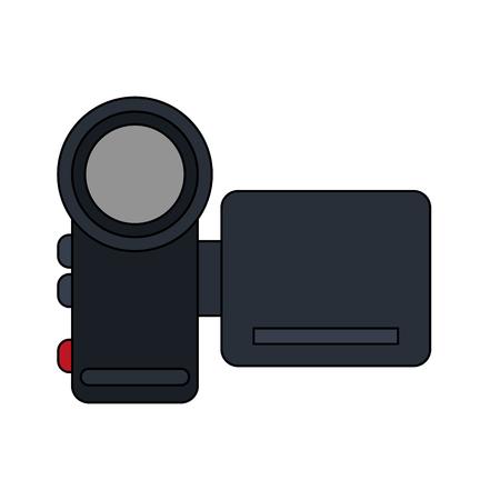 movie film: color image digital video camera device vector illustration