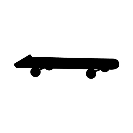 Silueta skateboard extrem deporte objeto ilustración vectorial