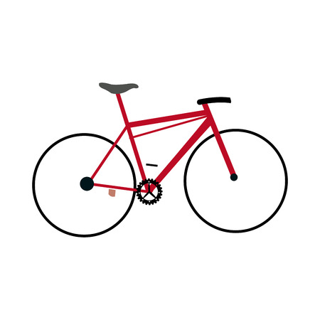 handlebar: red bicycle sport transport equipment vector illustration Illustration